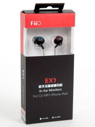Die Verpackung des EX1 vom chinesischen Hersteller FiiO.