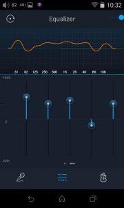Digital Audio Player von FiiO Modell X7. Der 10-Band Equalizer ermöglicht benutzerdefinierte Einstellungen zum Ausgleich von Kopfhörer- oder Aufnahmeschwächen. Zusätzlich stehen acht Presets zur Auswahl.