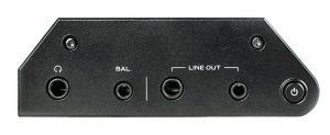 Digital Audio Player von Astell & Kern Modell KANN. Für Kopfhörer und Line out stehen jeweils zwei dedizierte Ausgänge (symmetrisch/unsymmetrisch) zur Wahl.