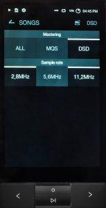 Digital Audio Player von Astell & Kern Modell KANN. Die Musikbibliothek lässt sich nach DSD-Files sowie PCM-Files in Hi-Res-Quailtät (MQS) mit mindestens 24 Bit in verschiedenen Sampleraten filtern.