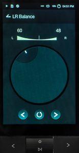 Digital Audio Player von Astell & Kern Modell KANN. Die Stereobalance lässt sich in 120 Schritten regeln.