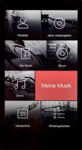 Digital Audio Player von iBasso Modell DX200. Im Android-Betriebssystem offeriert der Mango-Audioplayer eine sehr übersichtliche und gestochen scharfe Benutzeroberfläche.