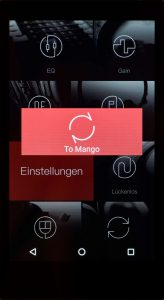 Digital Audio Player von iBasso Modell DX200. Die Darstellung des Lautstärke-Pegels ist bei beiden Betriebssystemen unterschiedlich links Android, rechts Mango. Der Bootvorgang für das Mango-Betriebssystem dauert lediglich 15 Sekunden.