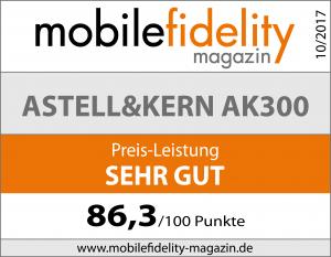Testsiegel Astell & Kern AK300