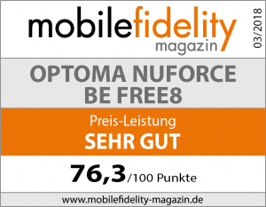 Testsiegel Optoma Nuforce BE Free8