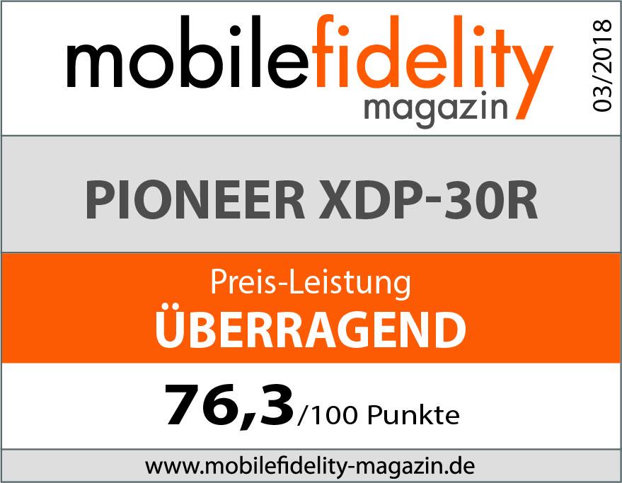 Pioneer XDP-30R Testsiegel
