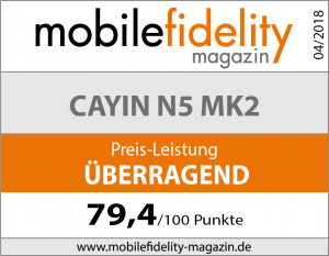 Testsiegel Cayin N5 MK2