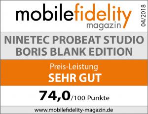 Testsiegel Nintec ProBeat Studio Boris Blank Edition