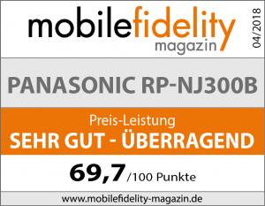 Testsiegel Panasonic RP-NJ300B