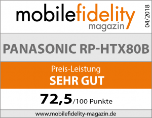 Testsiegel Panasonic RP-HTX80B