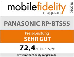 Testsiegel Panasonic RP-BTS55