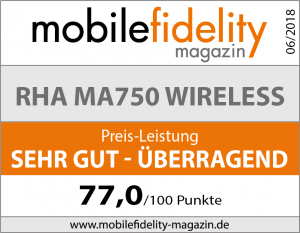 Testsiegel RHA MA750 Wireless