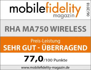 Testsiegel RHA MA750 Wireless