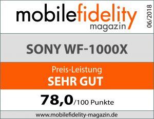Testsiegel SonyWF-1000X