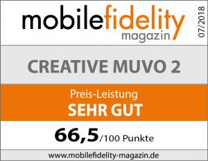 Testsiegel Creative MUVO 2