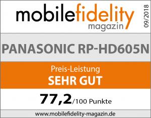 Testsiegel Panasonic RP-HD605N