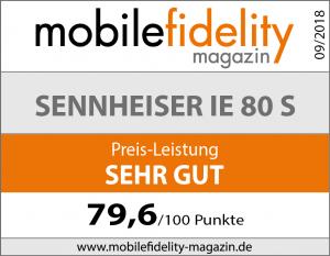 Testsiegel Sennheiser IE 80 S
