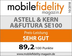 Testsiegel Astell & Kern A&futura SE100