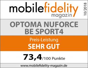 Testsiegel Optoma NuForce BE Sport4