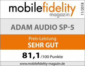 Testsiegel Adam Audio SP-5