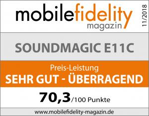SoundMAGIC E11CTest bei mobilefidelity magazin