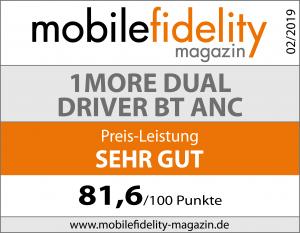 Testsiegel-1MORE Dual Driver BT ANC