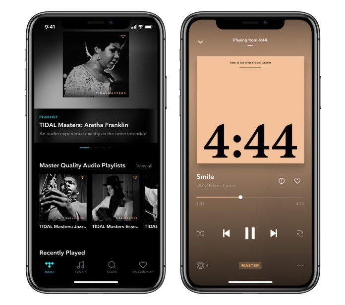 Tidal Masters und Tidal HiFi für iOS
