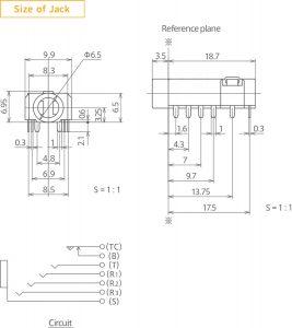 Querschnitt Pentaconn-Buchse & Schaltkreis