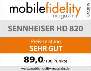 Testsiegel-Sennheiser HD 820