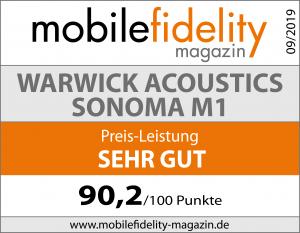 Testsiegel-WARWICK ACOUSTICS SONOMA M1