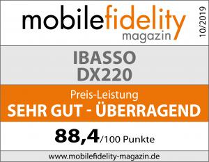 Testsiegel-IBASSO DX220