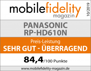 Testsiegel-PANASONIC RP-HD610N