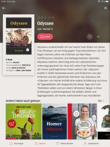 Nextory Buch Homer Odyssee