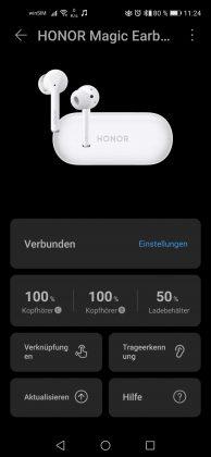 HONOR Magic Earbuds Screenshot HUAWEI AI Life App 1