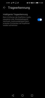 HONOR Magic Earbuds Screenshot Trageerkennung