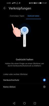HONOR Magic Earbuds Screenshot Verknuepfungen 2 Geraeuschschutz (ANC)