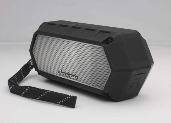 Soundcast VG1 on white with strap_1500x1080