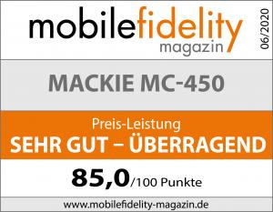 Testsiegel Mackie MC-450