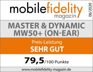 Testsiegel-Master & Dynamic MW50+ On-Ear