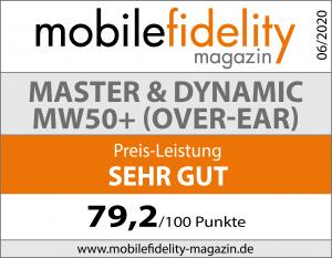 Testsiegel-Master & Dynamic MW50+ Over-Ear