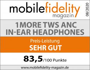 Testsiegel 1MORE True Wireless ANC In-Ear Headphones