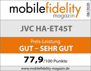 Testsiegel JVC HA-ET45T