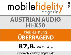 Testsiegel-AUSTRIAN AUDIO Hi-X50