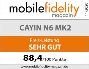Testsiegel Cayin N6 MK2