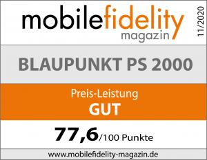Testsiegel Blaupunkt PS 2000