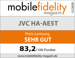 Testsiegel JVC HA-AE5T