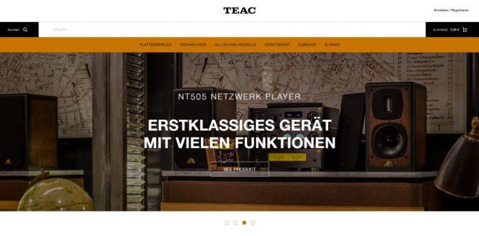 TEAC eröffnet eigenen Onlineshop